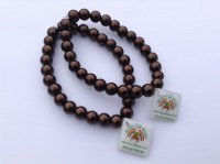 chocolate-glass-bead-stretch-bracelet